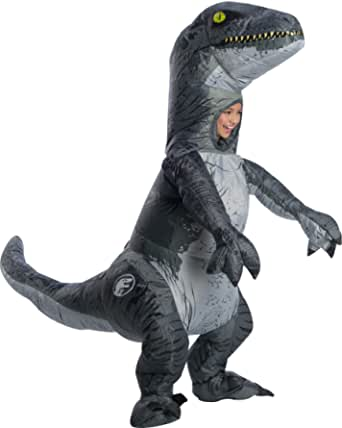 Rubie's Velociraptor Blue Inflatable Jurassic World Child Costume