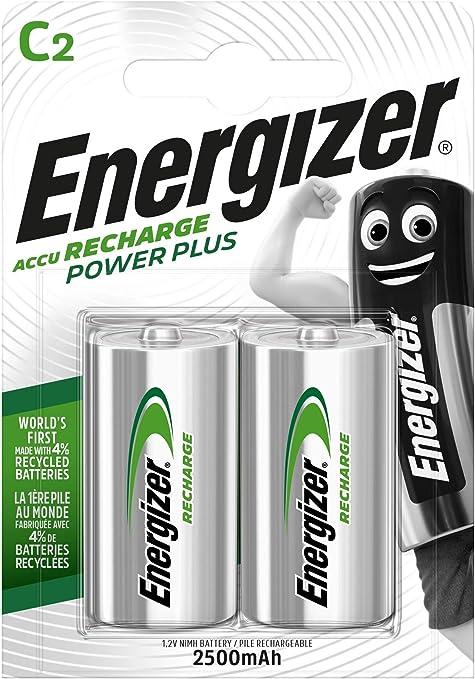 Energizer Wiederaufladbare Batterien C Recharge Power Elektronik
