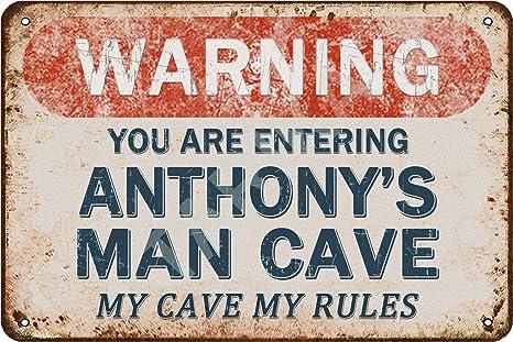 Tarika Warning You Are Entering Altheas Man Cave My Cave My Rules Poster in Ferro Pittura Vintage Targa in Metallo per Street Garage Home Cafe Bar Man Cave Farm Decorazione da Parete Mestieri