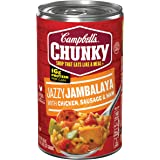 Campbell's Chunky Soup, Jazzy Jambalaya with Chicken, Sausage & Ham, 18.6 Ounce (Pack of 12) (Packaging May Vary)