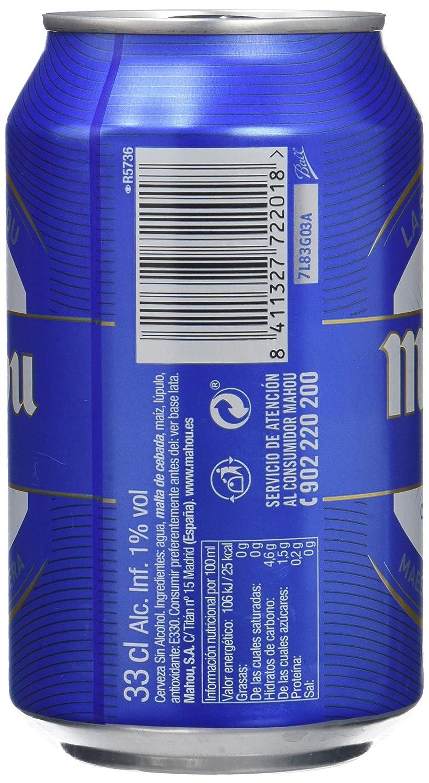 Mahou Cerveza - Pack de 12 x 330 ml - Total: 3960 ml: Amazon.es: Amazon Pantry