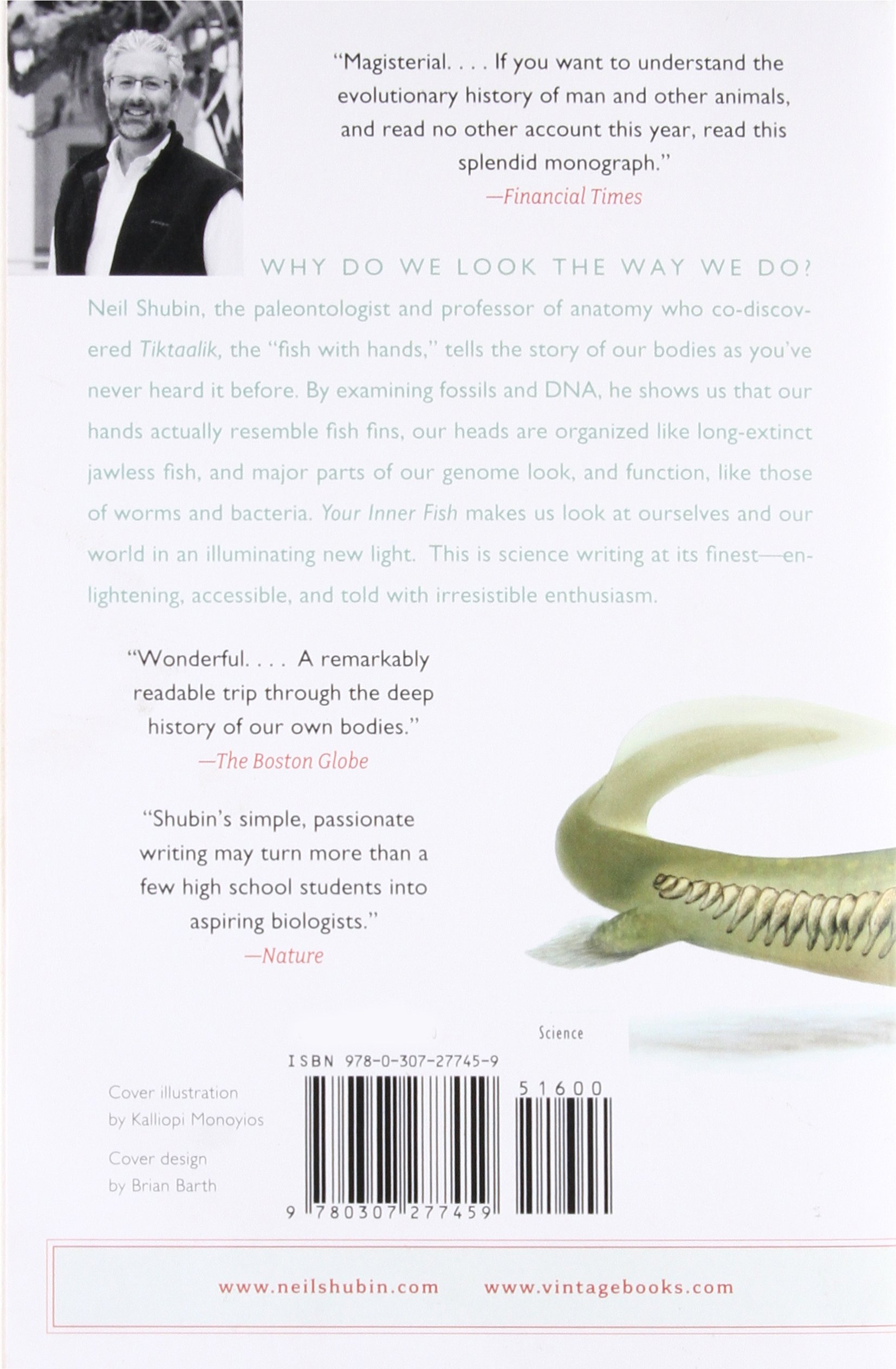 Your Inner Fish A Journey Into The 35 Billion Year History Of The