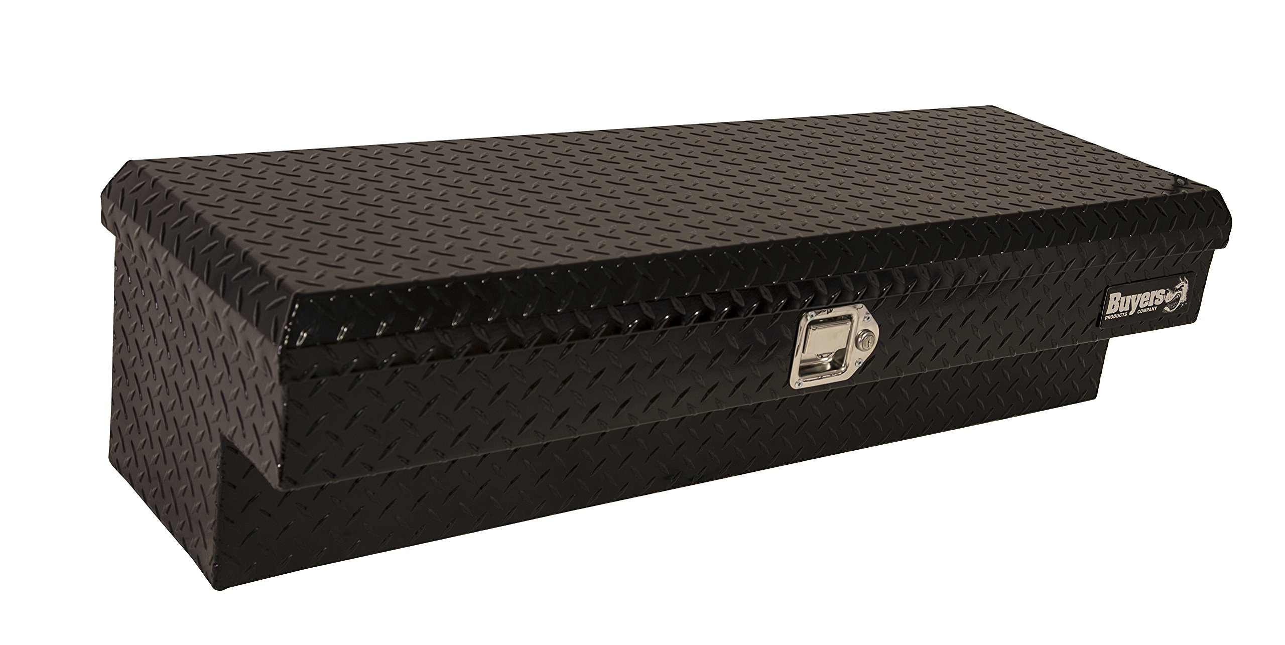 Buyers Products Black Diamond Tread Aluminum Lo-Sider Truck Box (13x16x87 Inch)