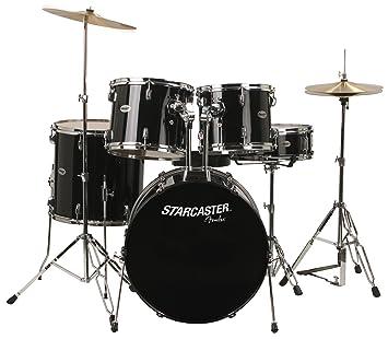 Fender Starcaster Drum Set Black Amazonca Musical Instruments