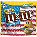 M&M'S Red, White & Blue Peanut Chocolate Candy Bag, 42 oz