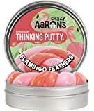 """Crazy Aaron's Thinking Putty 4"""" Tin - Flamingo Feathers Hypercolor - Color Changing Putty, Soft Texture - Never Dries Out"""
