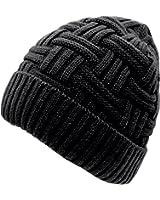 Loritta Men's Winter Knitting Skull Cap Wool Warm Slouchy Beanie Hat