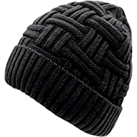 Loritta Mens Winter Warm Knitting Hats Wool Baggy Slouchy Beanie Hat Skull  Cap 1077f77a8ee
