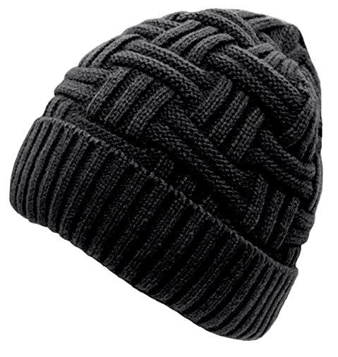 d1dece5b78a Loritta Mens Winter Warm Knitting Hats Wool Baggy Slouchy Beanie Hat Skull  Cap