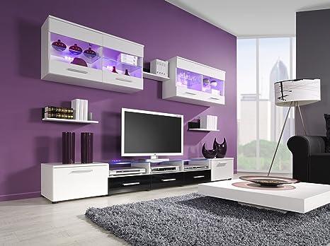 CAMA parete attrezzata porta TV lucida/opaca, da pavimento/a parete ...