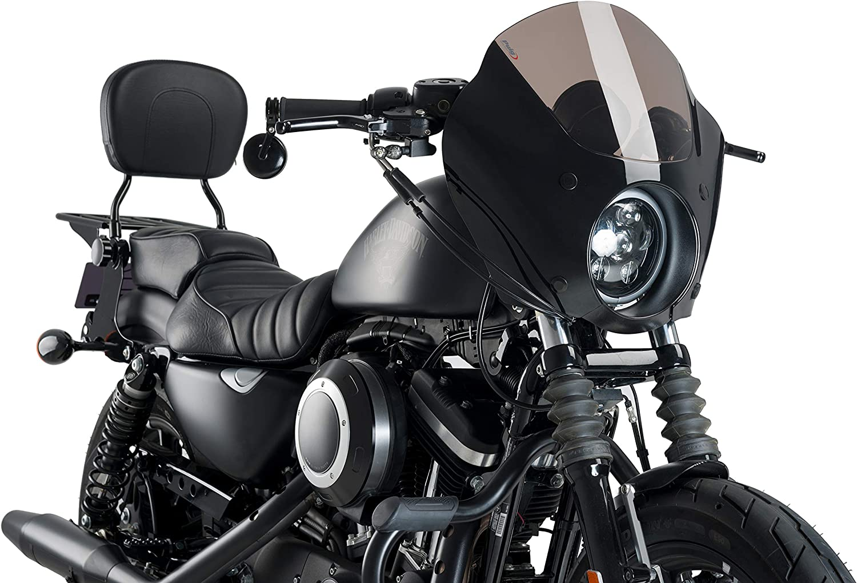 Amazon Com Customacces Az1117n Semifairing Model Dark Night Black Harley Davidson Sportster 1200n Nightster Xl1200n 08 12 Automotive