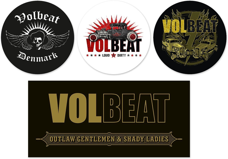 4er Set Volbeat Autoaufkleber Sticker Aufkleber Wasserfest Auto