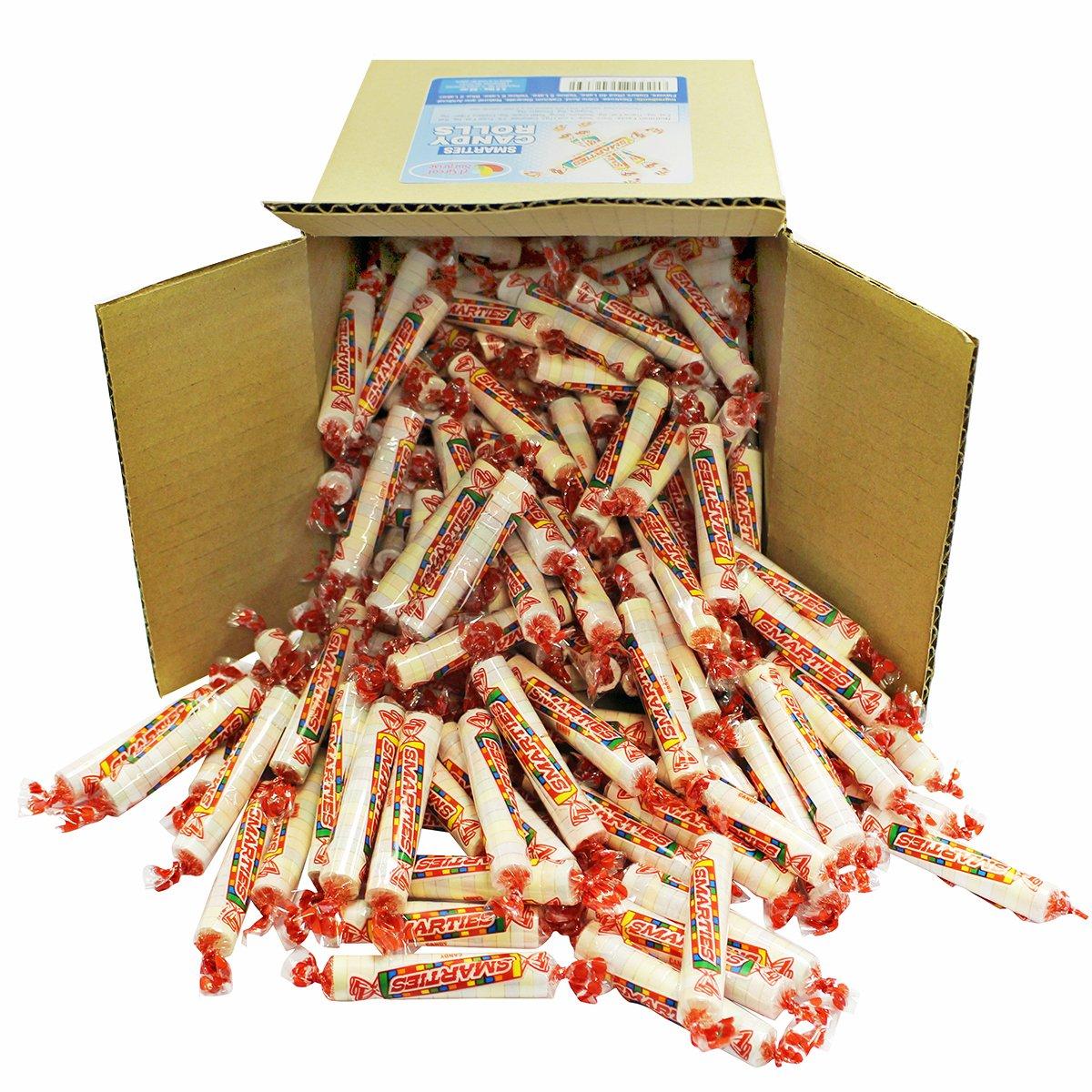 A Great Surprise Caramelos Smarties rollos - Original, 6 x 6 x 6 caja caramelo a granel 3,2 libras - 52oz: Amazon.es: Hogar