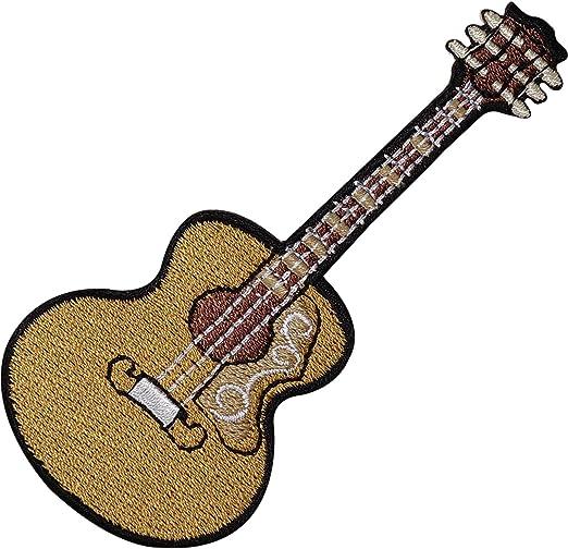 Guitarra acústica clásica española bordado Sew de hierro en parche ...