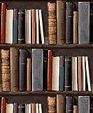 Grandeco - Papier Peint Bibliothèque Etagères Avec Des Livres Réaliste POB-33-01-6