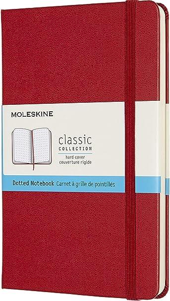 Oferta amazon: Moleskine - Cuaderno Clásico con Páginas Puntinada, Tapa Dura y Goma Elástica, Color Rojo Escarlata, Tamaño Medio 11.5 x 18 cm, 208 Páginas