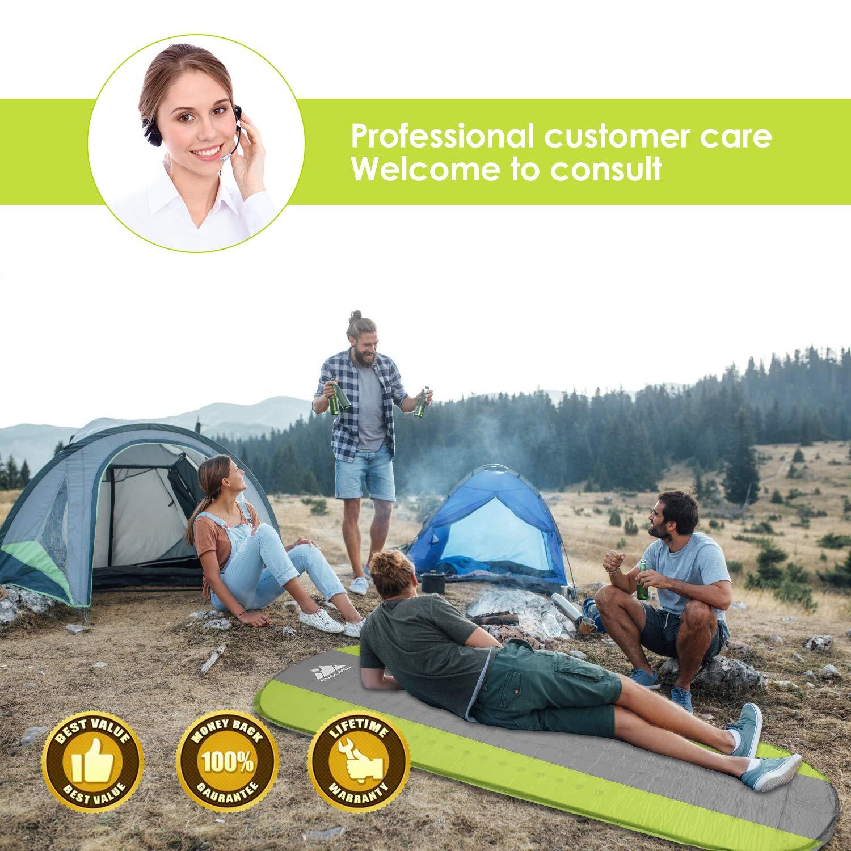 Spiaggia Escursionismo Viaggio Materassino da Campeggio Leggero per Campeggio AGM Materassino da Campeggio Gonfiabile con Cuscino Gonfiabile Materasso