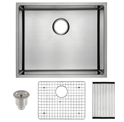 deep stainless steel kitchen sink single frigidaire undermount stainless steel kitchen sink 10mm radius corners 16 gauge deep basin