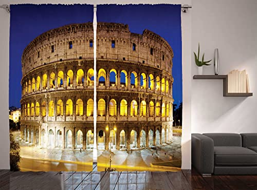 Reviewed: Ambesonne The Colosseum Curtains