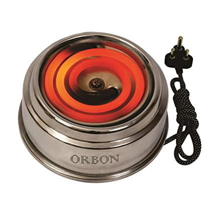 ORBON 500 Watt Junior Steel G Coil Stove Hot Plate Induction Cooktop (Silver Steel)