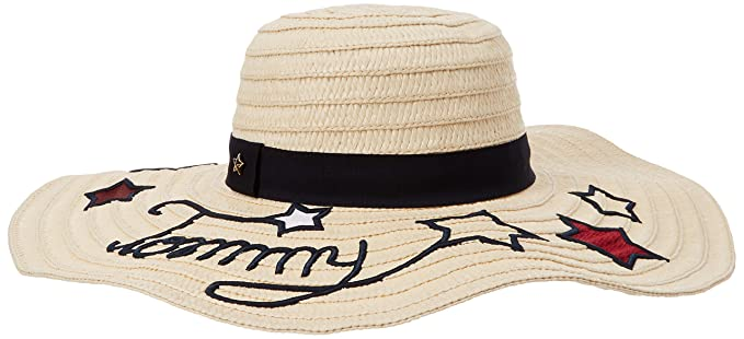 Tommy Hilfiger Women s Tommy Stars Straw Hat Sun 98d6e195e3