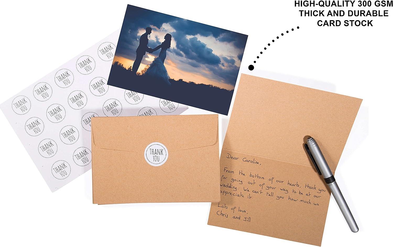 Amazon.com: 40 tarjetas de agradecimiento rústicas y vintage ...