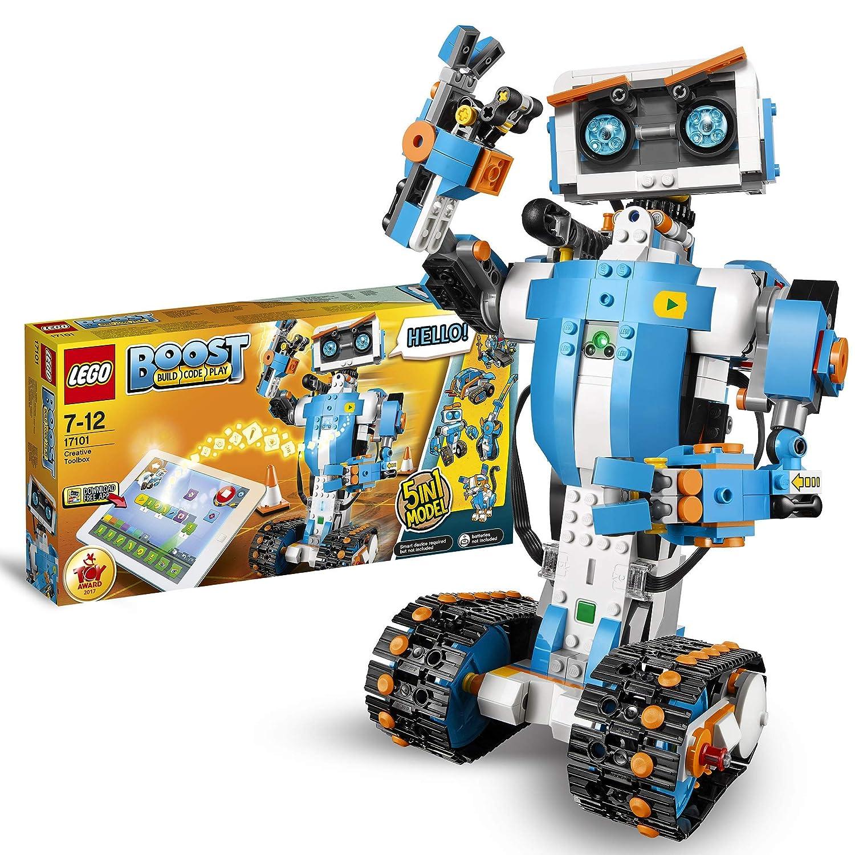 LEGO BOOST - Caja de Herramientas Creativas, Set de Construcción 5 en 1 con Robot de Juguete para Programar y Jugar