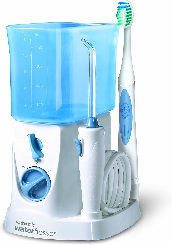 Waterpik WP700E2 - Kit de cuidado dental, color blanco y azul