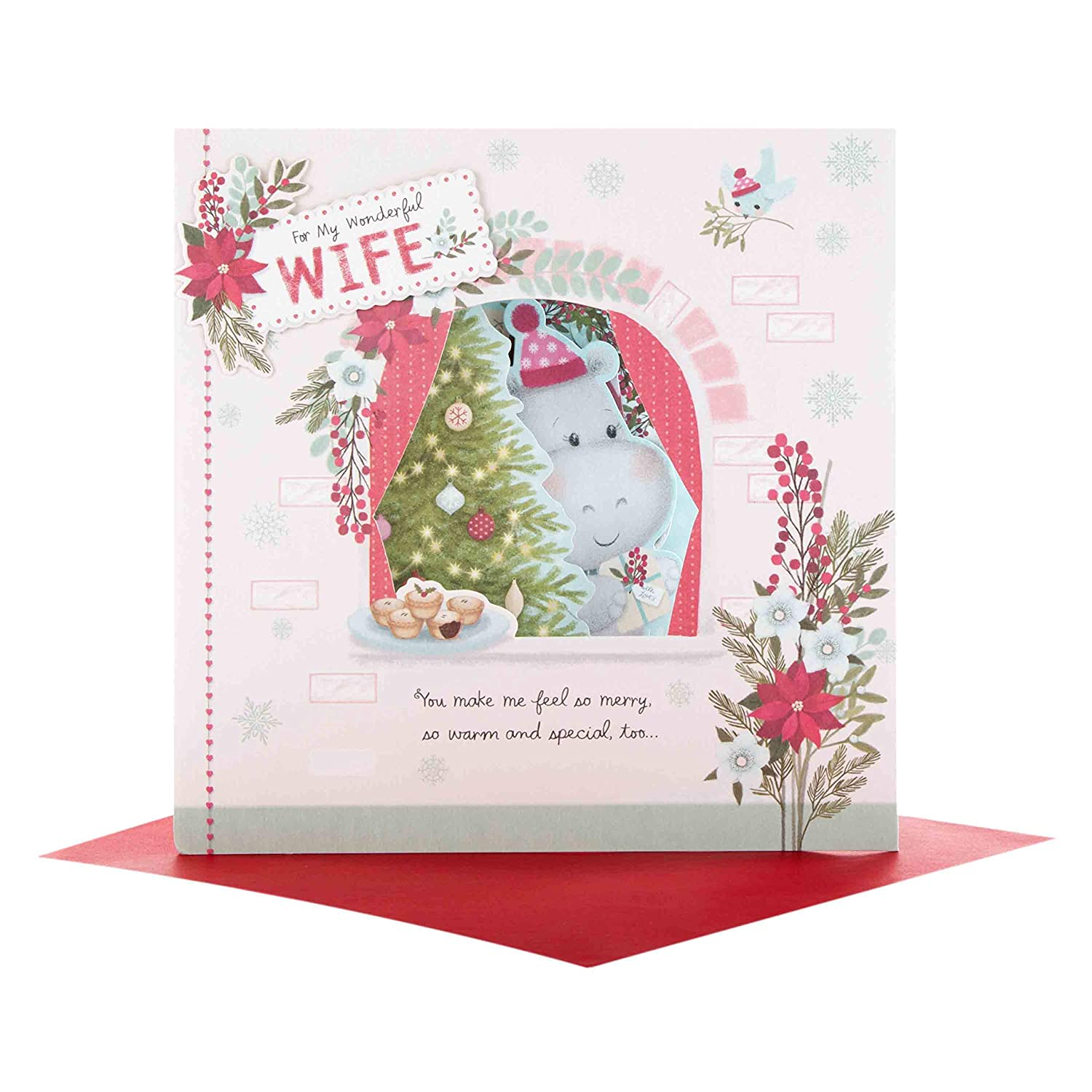 Hallmark Wonderful Wife Christmas Card Love Token Amazon