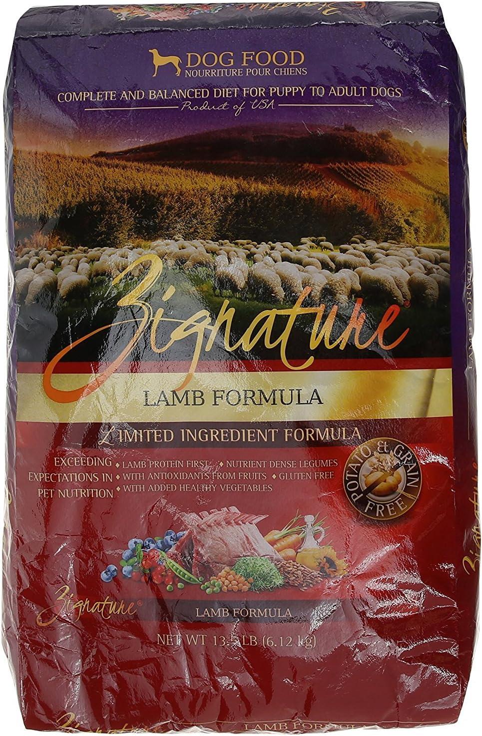 Zignature Lamb Dry Dog Food, 13.5 lb. Bag. Fast, by Just Jak's Pet Market