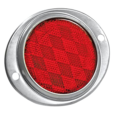 Reese Towpower 86011 Red Aluminum Oval Reflector: Automotive