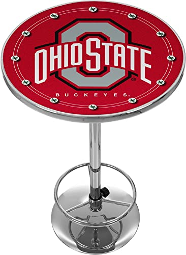 NCAA Ohio State University Chrome Pub Table
