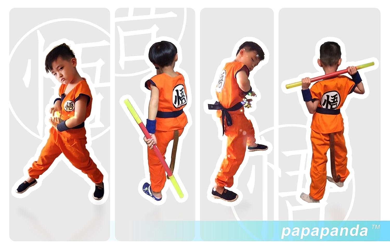 papapanda Niños Disfraz Dragonball Son Goku Ropa de Entrenamiento L: Amazon.es: Juguetes y juegos