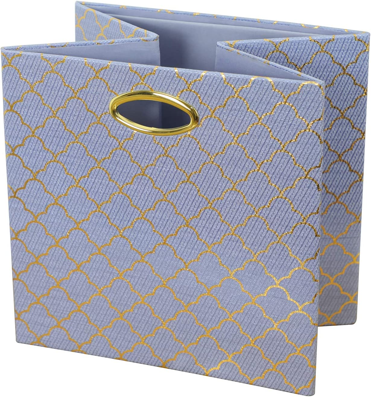 2pcs, Lotus Leaf lace-Blue Posprica Storage Bins Storage Cubes,13/×13 Fabric Drawers Organizer Basket Boxes Containers