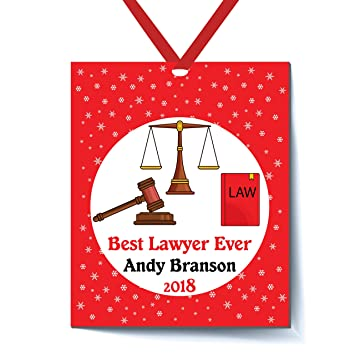 Best Lawyer Ever Personalized Christmas Ornament - Personalized Lawyer  Gifts - Personalized Christmas Ornaments Occupation - - Amazon.com: Best Lawyer Ever Personalized Christmas Ornament