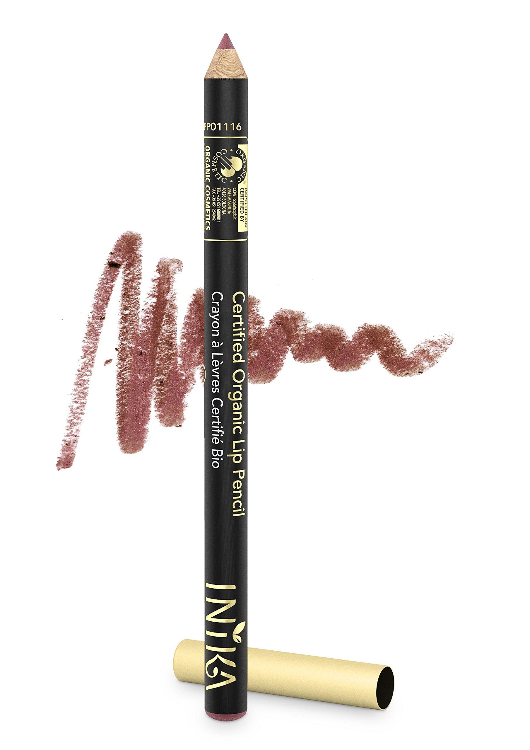 INIKA Certified Organic Lip Liner Pencil, All Natural Formula, Vegan, Rich, Creamy Formula, Suits Sensitive Eyes, 1.2g (Safari)