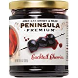 Peninsula Premium Cocktail Cherries | Award Winning | Deep Burgundy-Red | Silky Smooth, Rich Syrup | Luxe Fruit Forward…