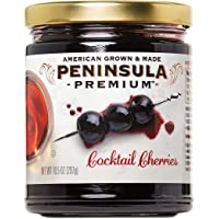 Peninsula Premium Cocktail Cherries | Award Winning | For Cocktails and Desserts | American Grown and Made (10.5 oz)