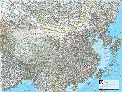 National Geographic Map Of China.Map Of China Wallpaper Wall Mural Self Adhesive Multiple Sizes
