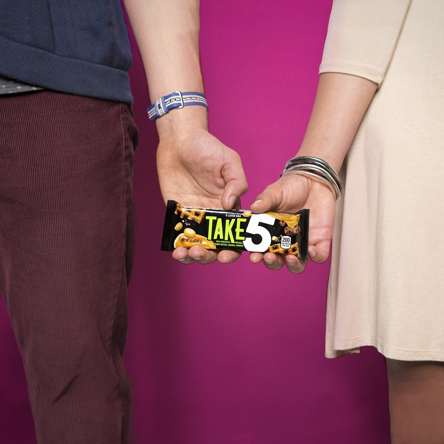 TAKE5 Chocolate Candy Bar with Peanuts (Pack of 18) by Take 5 (Image #6)