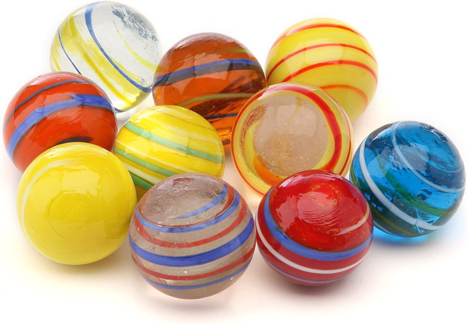 Set Of 10 Kim/'play Equinoxe 9020 Large Marbles