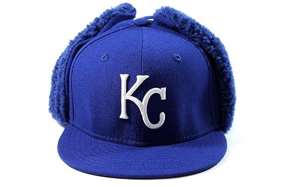 447e87d8b Amazon.com: New Era Kid's Kansa City Royals Blue Dog-Ear Winter Hat ...