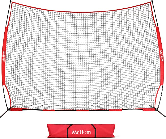 McHom 12ft x 9ft Sports Barrier Net - Reliable High-Quality Backstop