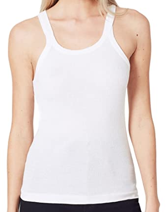 06314d9175338 RE DONE Ribbed Tank - Optic White at Amazon Women s Clothing store