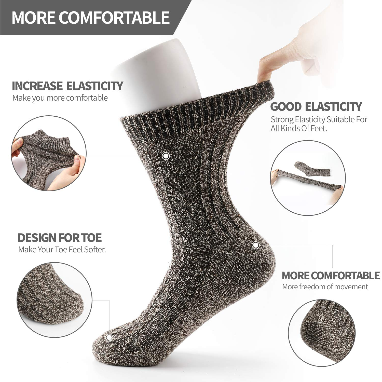 ElifeAcc 5 pares de calcetines de invierno para mujer, gruesos, de ...