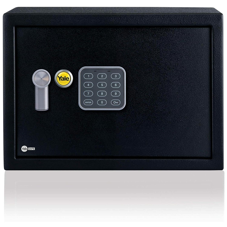 Yale YEC/250/DB1 - Coffre-Fort Alarme à Serrure Electronique 100 000 combinaisons, A Poser et Sceller | Sirène 130dB, Format Domestique 25 x 35 x 25 cm (16,3L), Noir