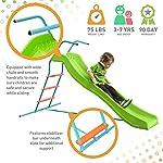 Pure Fun Home Playground Equipment: 6' Indoor/Outdoor Wavy Slide