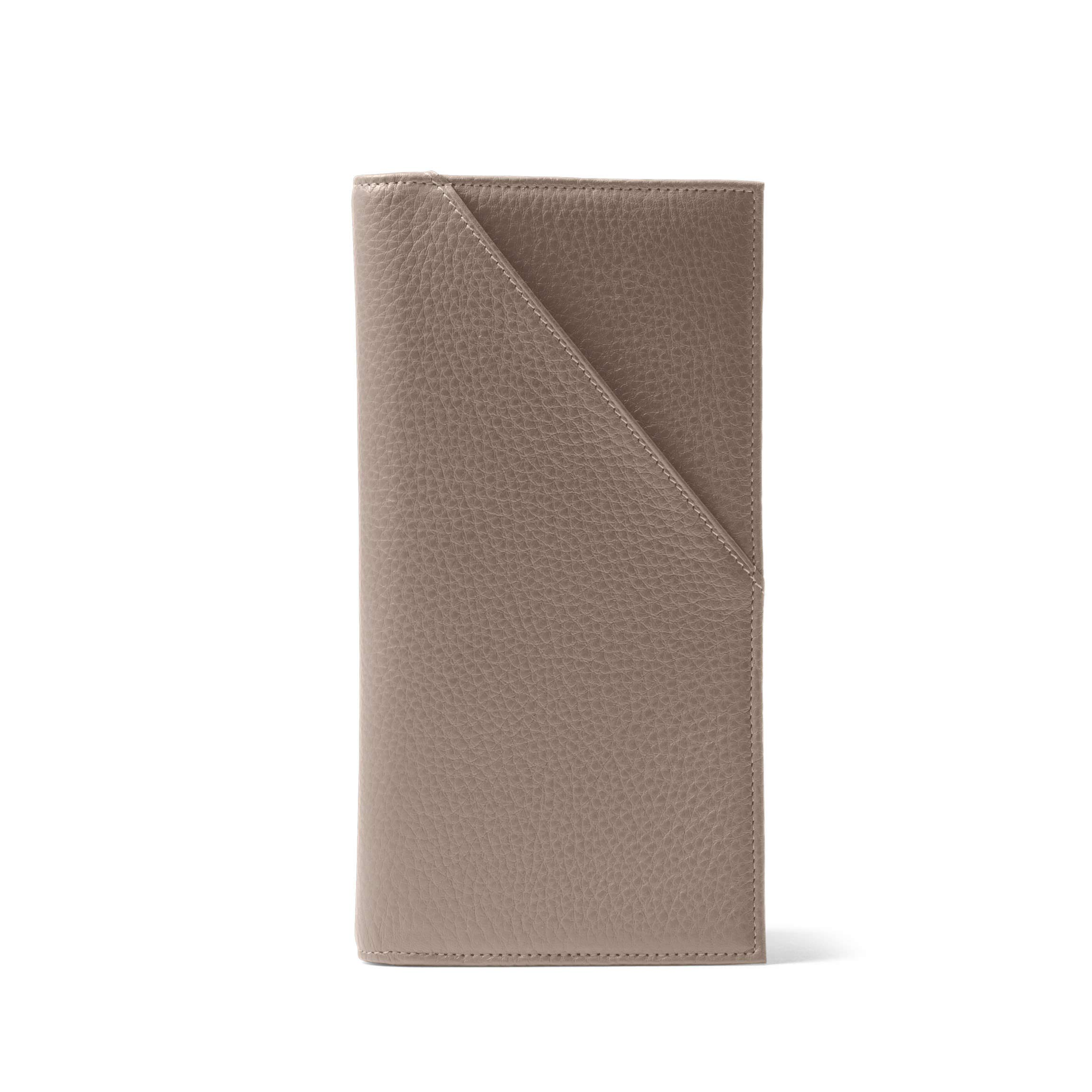 Travel Document Holder - Full Grain Leather Leather - Taupe (Beige)
