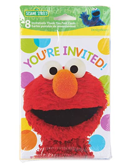 Amazon american greetings elmo invite thank you combo pack 8 american greetings elmo invite thank you combo pack 8 count m4hsunfo