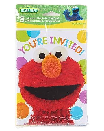 Amazoncom American Greetings Elmo Invite ThankYou Combo Pack 8